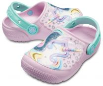 CROCS FUN LAB GRAPHIC CLOG KIDS 205001-6OK - rosa / Einhorn