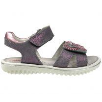 SUPERFIT Sandale SPARKLE 9005-25 - grau / rosa Glitzer / Blume
