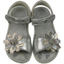 LURCHI Sandale FINI 18725-49 - silber / gold / Blume