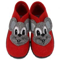 SUPERFIT Hausschuh HAPPY 294-71 - rot / Maus